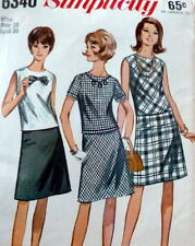 LOVELY VTG 1960s DRESS Sewing Pattern 16/36
