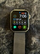 Apple Watch Series 5 40mm Silver Case White Band (MWV62LL/A) with Milanese Loop