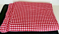 Pottery Barn Kids Red Plaid Flannel Duvet Cover Twin Bed Gingham Check