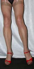 6 pairs Natural Tan Sheer 15 Denier Stockings Large