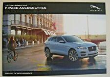 Jaguar . F-Pace . Jaguar F Pace Accessories . July-December 2016 Sales Brochure