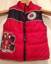 Formula 1 Division~4T~Race Car Puffer Vest~Little Rebels~Red Black~Fall Winter
