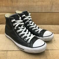 Converse Unisex Chuck Taylor All Star Hi Sneakers Black 132170C Leather M 8 W 10