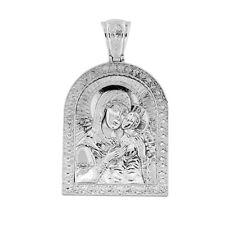 584 NEU Anhänger Ikone -orthodox- aus 925er Silber Икона Божией Матери