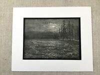 1870 Moonlight Fiume Atala Chateaubriand Fantasia Art Dore Originale Antico Con