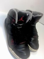 Nike Air Jordan Originals Black Red Basketball Shoes Youth 5 Women's 7