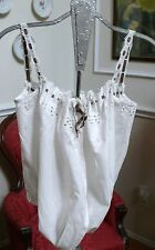 1890`s White Antique Corset Cover Camisole Chemise Cotton Eyelet for Youth Xxs