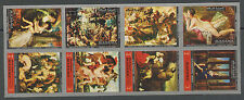 Manama Famous Nude Paintings block 8 mnh imperf stamps Michel Catalog #1248B-55B