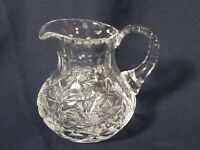Heavy Crystal Pitcher or Creamer Clear Approximately 4 And 1/2 In Tall