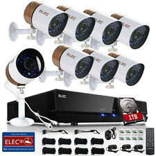 ELEC 8CH 1080P HDMI 1500TVL DVR CCTV IR-Cut Home Security Camera System 1TB HDD