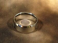 Heavy Tungsten Carbide Flat Shiny Band Captain Americs Edge Ring 8mm Wide Size15