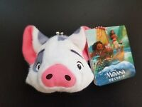 Disney Moana Princess Pua pig Pet Doll Plush Coin Bag wallet Toy
