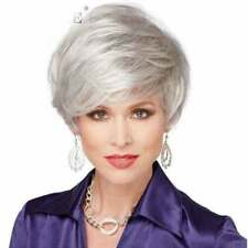 NEW1073  new popular style short silver gray white hair wigs for women wig