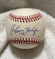 Johnny Mize Autographed Signed VINTAGE ONL Baseball GIANTS YANKEES CARDINALS