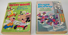 2 BIG LITTLE BOOKS MICKEY MOUSE AND BUGS BUNNY