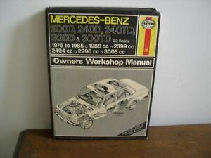 MERCEDES-BENZ 200D, 240D, 240TD, 300D & 300TD OWNERS WORKSHOP MANUAL.1976-1985.