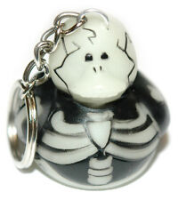 GLOW IN THE DARK SKELETON RUBBER DUCK KEY CHAIN (KC052-Black)
