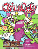 CHINA GATE By ROMSTAR 1988 ORIGINAL NOS VIDEO ARCADE GAME PROMO SALES FLYER