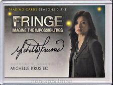 Fringe 3 & 4 Cryptozoic Autograph A14 Michelle Krusiec