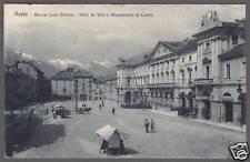 AOSTA CITTÀ 13 MONUMENTO ai CADUTI Cartolina viaggiata 1930