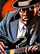 JOHN LEE HOOKER PRINT poster epiphone guitar best delta blues cd chess chillin