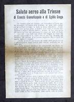 Irredentismo - Saluto aereo alla Trieste - Gabriele D'Annunzio - 11 gennaio 1920