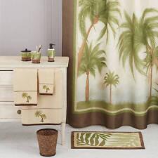 Palm Cove Shower Curtain Tropical Bathroom Bamboo Beige Bahama Beach Island