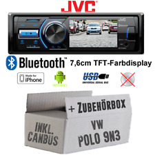 JVC Autoradio pour VW Polo 9N3 Bus Can Interface TFT USB Android IPHONE Montage