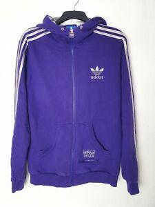 Adidas Chile 62 Mens Large Hoodie Hoody Purple Full Zip Vintage Retro Rare