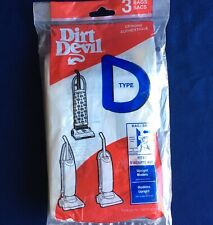 Dirt Devil Vacuum Cleaner Bags 3 Pack Type D NEW