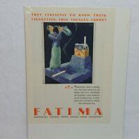 1928 FATIMA CIGARETTE LIGGETT & MYERS TOBACCO CO. ADVERTISEMENT