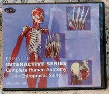 Complete Human Anatomy 10 CD-ROM Set Primal 3D Interactive Series Medical 2004