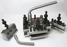 Lathe Toolpost Set S2 T2 3 Std ,1 Vee & Parting Off Toolholders