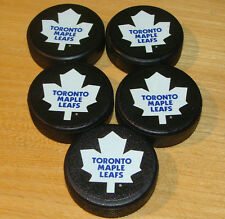 NHL Hockey Mini Puck Charm Set of 5 Five Sherwood Toronto Maple Leafs Plastic