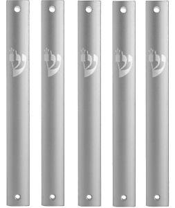 MEZUZAH CASE Holder Aluminum Waterproof ,Rubber Cork Silver shin lot of 5