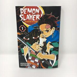 Demon Slayer Kimetsu no Yaiba Vol. 1 English Manga By Koyoharu Gotouge Brand New