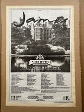 More details for james alton towers july 4th 1992 poster sized original music press advert from 1