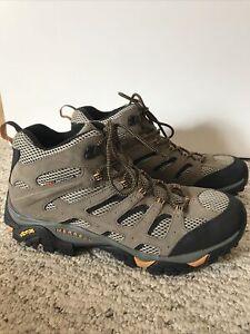 Mens Moab 2 Merrell Hiking Shoes Walnut Mid Size 13 EUC black Brown