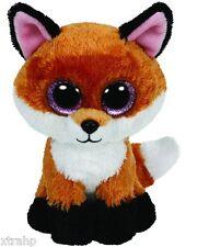 "Ty Slick The Fox 7"" Plush Beanie Boos Toy Doll TY"