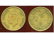 HONG KONG 10 cents ten  1949