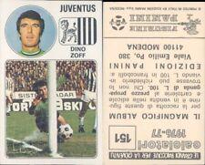 CALCIATORI PANINI 1976/77*FIGURINA STICKER N.151*JUVENTUS,DINO ZOFF*NEW