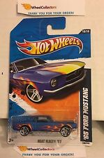 '65 Ford Mustang #100 * BLUE Walmart Only * 2011 Hot Wheels * Y57