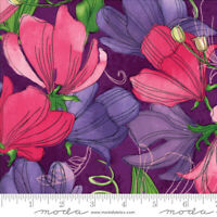 SWEET PEA & LILY Moda quilt fabric 3yds purple 48640-12 Robin Pickens SHIPS FREE
