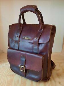 Dr Martens Oxblood Red / Brown Leather Backpack Bag, RRP £159