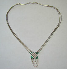 """15.5"""" Sterling Liquid Silver Beaded Pendant Necklace - 6.52 Grams - Item# P346"""