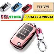 TPU Key Case Remote Fob Cover For VW Golf Polo Passat Jetta For Skoda Fabia