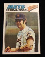 ED KRANEPOOL 1977 TOPPS Autograph Signed AUTO Baseball Card 201 METS