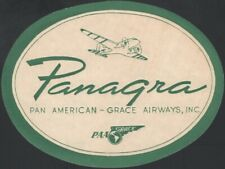 U.S., 1940s. PANAGRA, Pan American Grace Airways, Decal