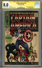 Captain America #100 CGC 8.0 VF SIGNED STAN LEE 1st issue Classic Black Panther