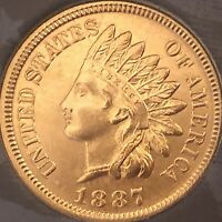 1887 INDIAN HEAT PENNY  4  DIAMONDS  ***BEAUTIFUL COIN***Cleaned